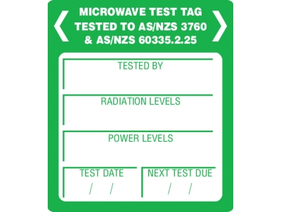 Microwave Leakage Labels