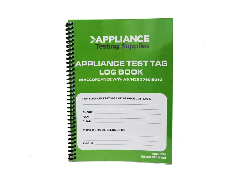 Test And Tag Log Book Appliance Testing Supplies